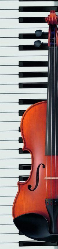 Klaviertasten und halbe Geige